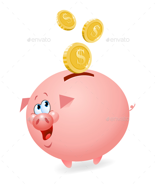 Piggy Bank - Animals Characters