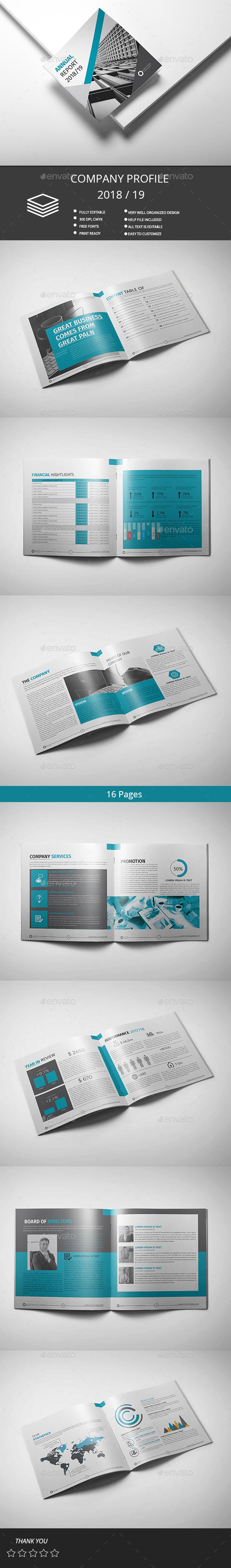Annual Report - Brochures Print Templates