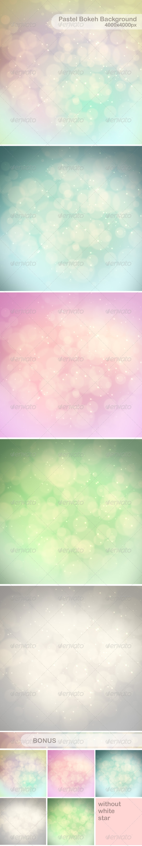 Pastel Bokeh Background - Abstract Backgrounds