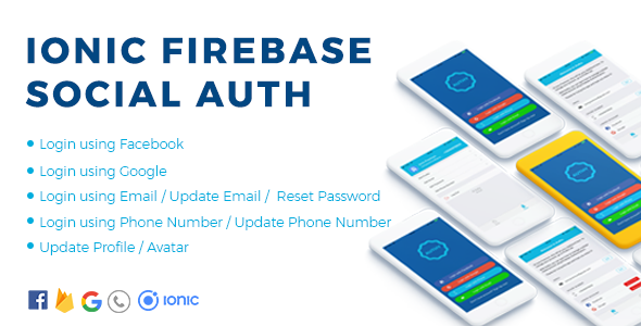 Authy - Ionic Firebase Social Authentication Full App            Nulled