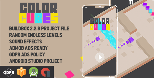 Color Cubes Buildbox with GDPR: Android Game            Nulled