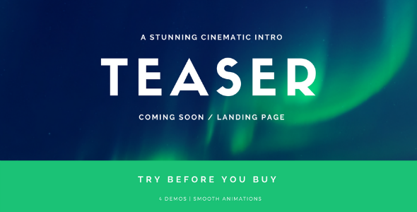 Coming Soon Template | Landing Page | Stomp - Cinematic Intro - Under Construction Specialty Pages