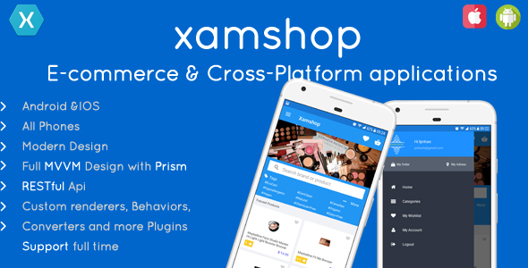 XamShop Ecommerce Application - Cross Platform            Nulled