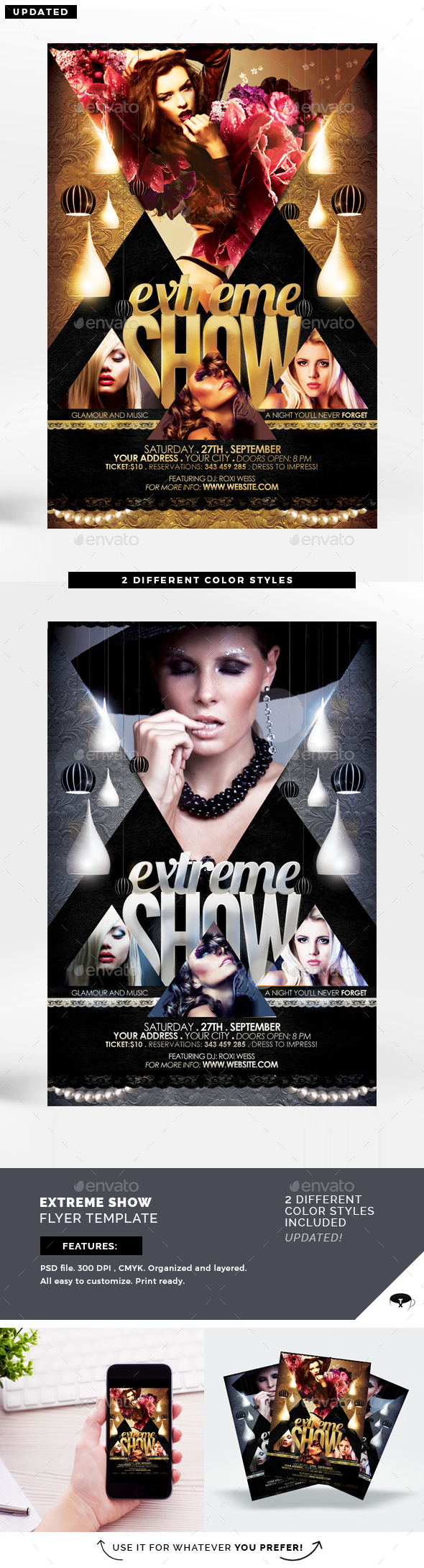 Extreme Show Flyer Template - Clubs & Parties Events