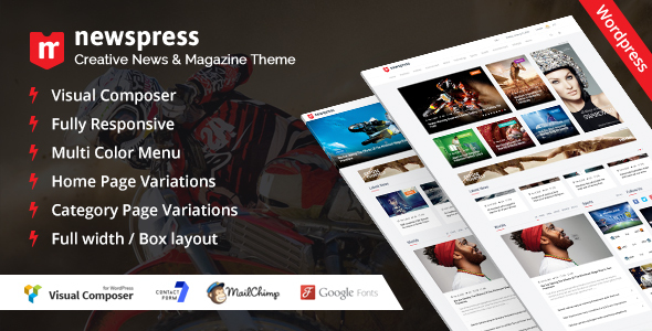 NewsPress – Responsive News / Magazine WordPress Theme Free Download