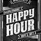 Happy Hour Chalk Flyer - GraphicRiver Item for Sale