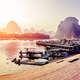 Scenic sunset over Li River, China. - PhotoDune Item for Sale
