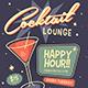 Retro Cocktail Event Flyer