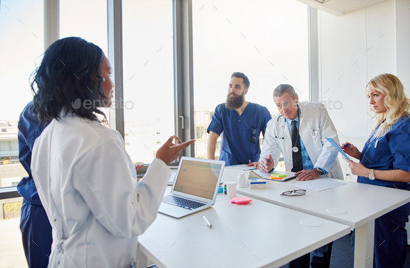 The doctor team meeting in the hospital - Stock Photo - Images