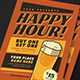 Retro Happy Hour Beer Event Flyer - GraphicRiver Item for Sale