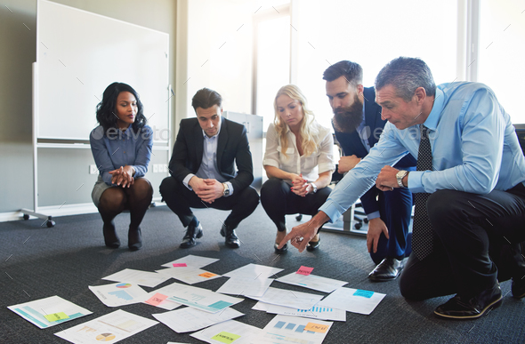 Business team brainstorming in office - Stock Photo - Images