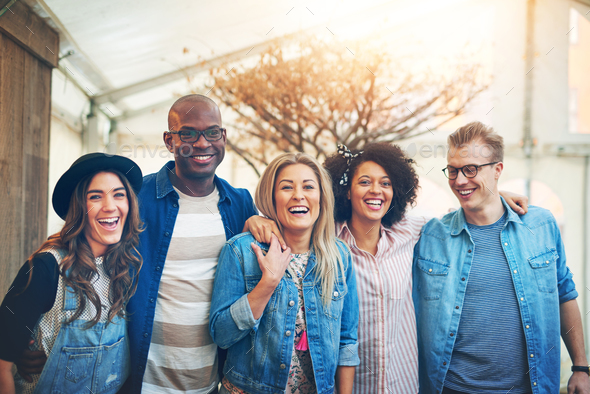 Beautiful young people - Stock Photo - Images