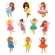 Fairy Girl Vectors - GraphicRiver Item for Sale