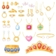 Jewelry Vector Jewellery Gold Bracelet Necklace