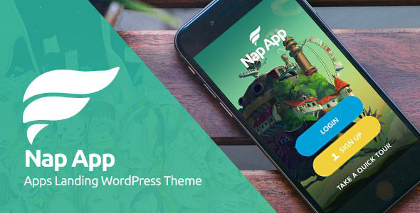 NapApp - WordPress App Landing Page - Software Technology