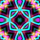 Neon Kaleidoscope Background Looped Pack - 17