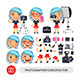 Photographer Woman Character Constructor - GraphicRiver Item for Sale