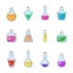 Magic Bottle Vector Magical Game Potion in Glass