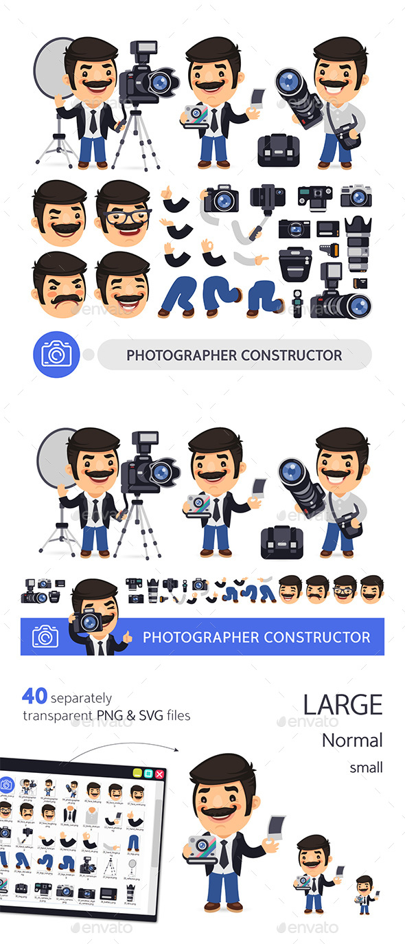Photographer Character Constructor - People Characters