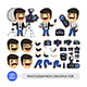 Photographer Character Constructor - GraphicRiver Item for Sale