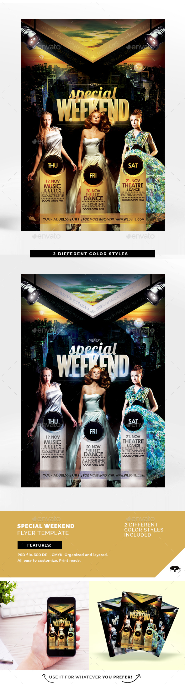 Special Weekend Flyer Template - Flyers Print Templates