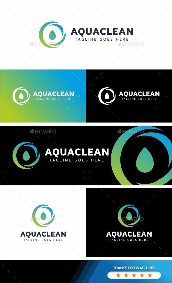 Aqua Clean Logo - Symbols Logo Templates