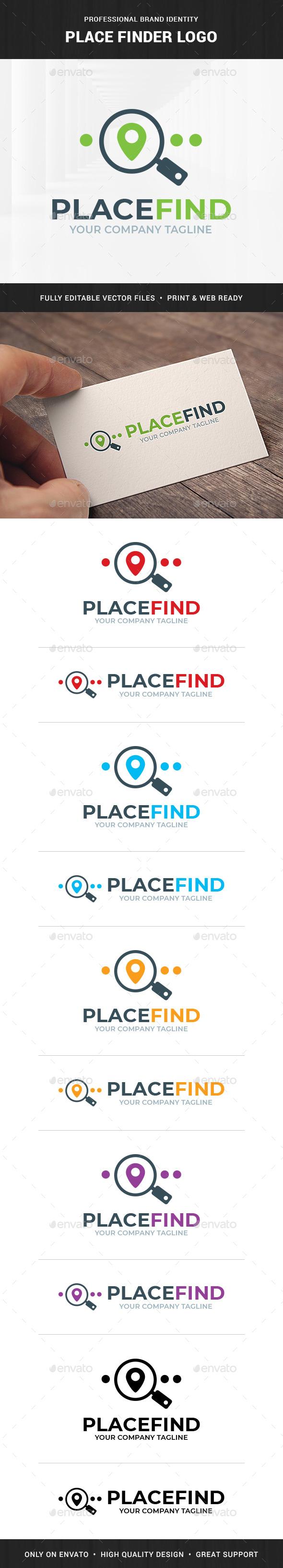 Place Finder Logo Template - Symbols Logo Templates