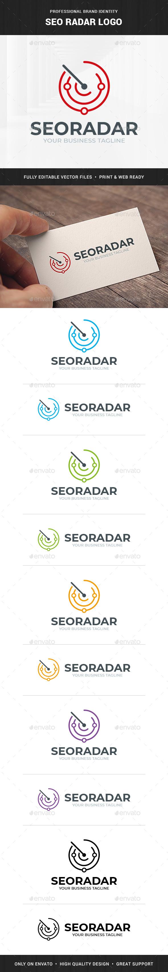 SEO Radar Logo Template - Symbols Logo Templates