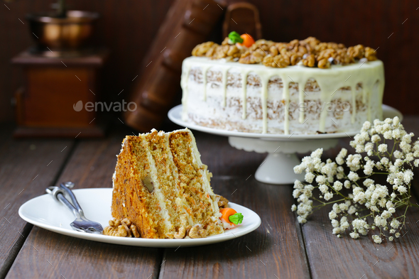 Carrot Cake - Stock Photo - Images