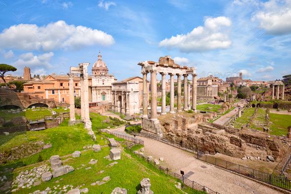Roman Forum in Rome - Stock Photo - Images