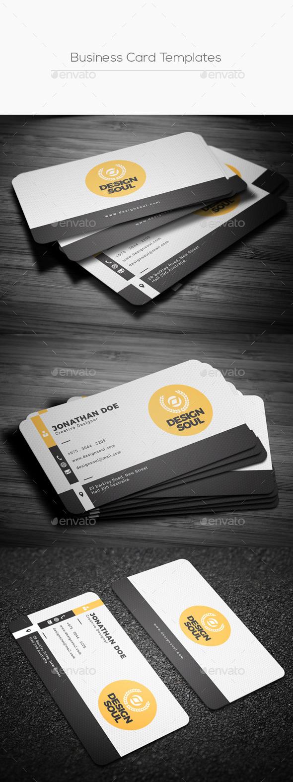 Business card templates designs from graphicriver accmission Image collections