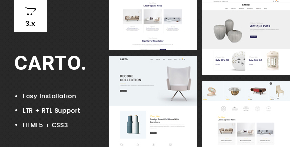 Carto - Multipurpose OpenCart 3 Theme - Technology OpenCart