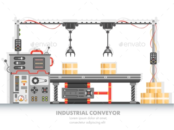 Industrial Manufacturing Line with Automation - Industries Business