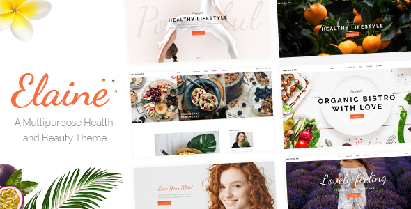 Image of Elaine - A Modern Multipurpose Health and Beauty Theme