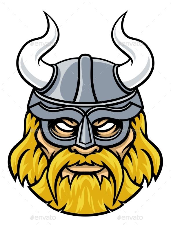 Viking Warrior Sports Mascot - People Characters