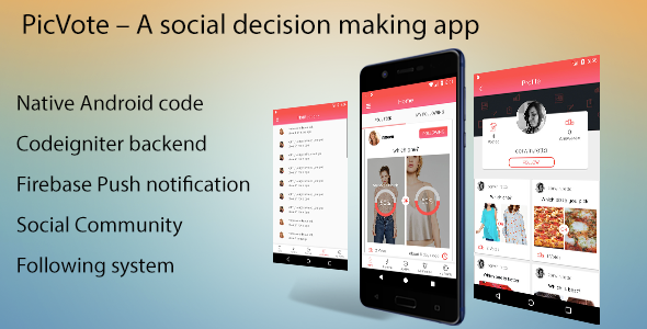 PicVote - A Social Decision Making App            Nulled