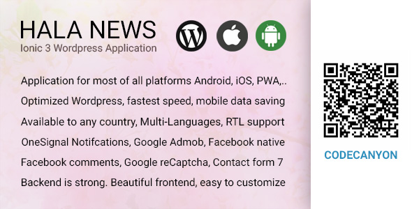 Full Ionic 3 Mobile App for WordPress - Google Facebook Ads, Social Login - Hala News Pro - CodeCanyon Item for Sale