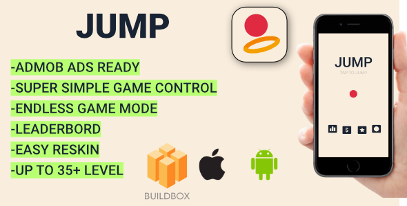 Jump + Admob (BBDOC + Android Studio + XCODE) Easy Reskin - CodeCanyon Item for Sale