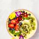 Mango banana pineapple turmeric smoothie bowl - PhotoDune Item for Sale