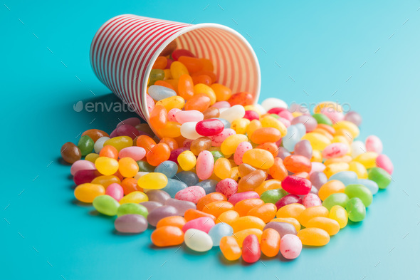 Sweet jelly beans. - Stock Photo - Images