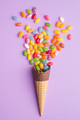 Sweet jelly beans and ice cream cone. - PhotoDune Item for Sale