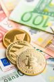 Bitcoin , litecoin and ethereum. Cryptocurrency and euro currenc - PhotoDune Item for Sale