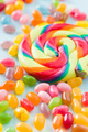 Sweet jelly beans and lollipop. - PhotoDune Item for Sale