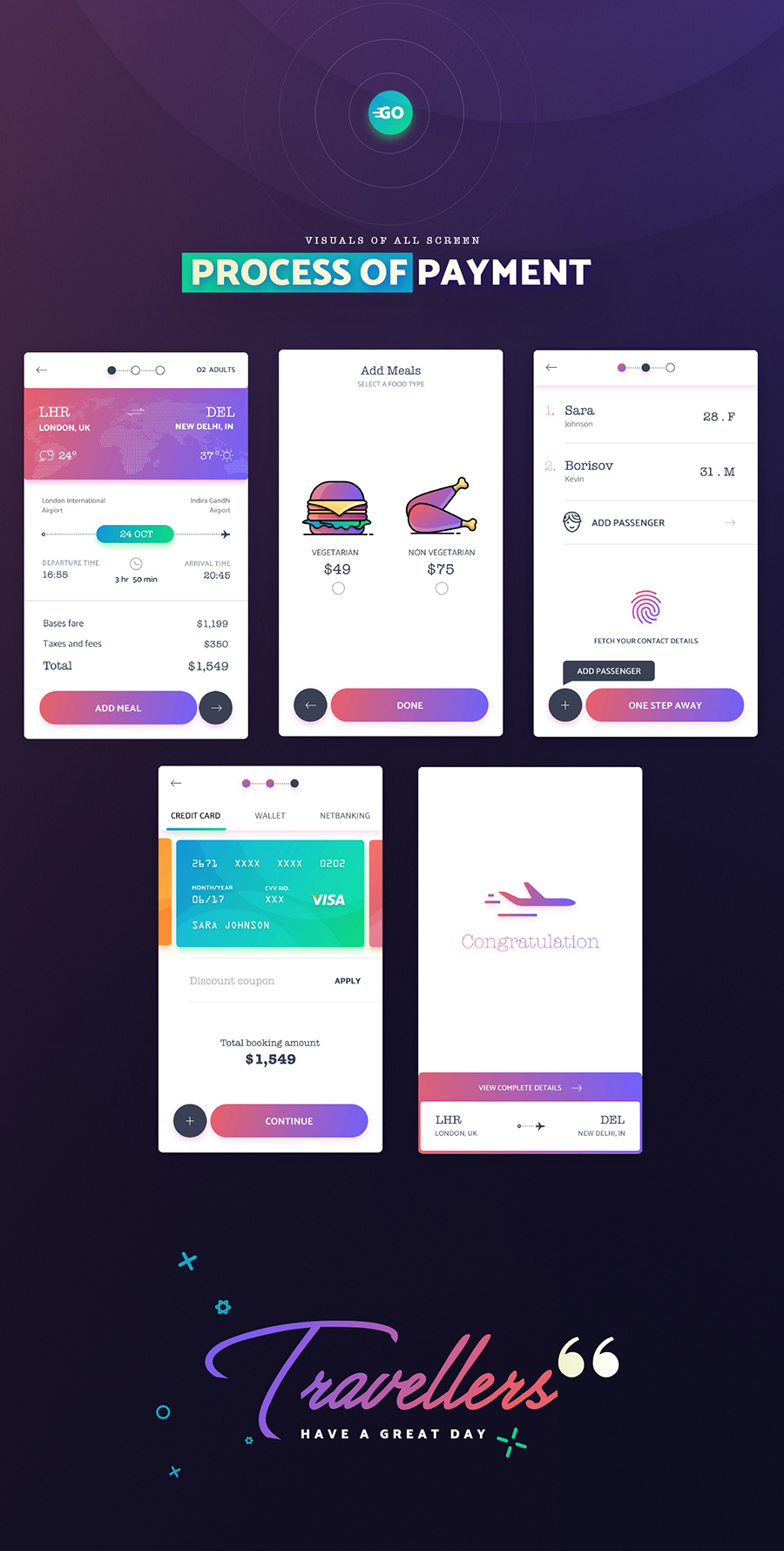 GoFlight Mobile App - UI kit