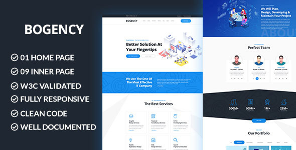 Image of Bogency - Creative Agency HTML Template