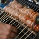 Asian Street Food . BBQ , Grill on Sticks . Fast Food in Asian Countries - VideoHive Item for Sale