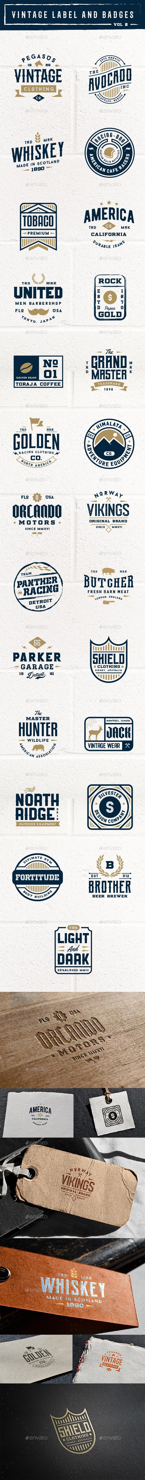 Vintage Label and Badges Vol 2 - Badges & Stickers Web Elements