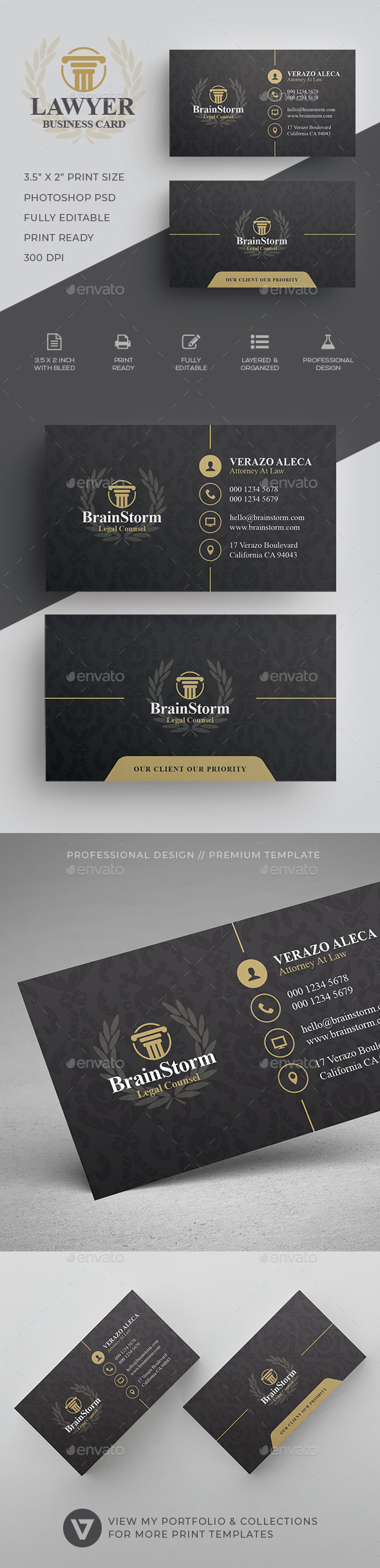 Industry specific business card templates from graphicriver reheart Gallery