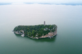 aerial view of beautiful shoes hill on the poyang lake, China - PhotoDune Item for Sale