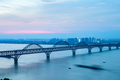 jiujiang yangtze river bridge in nightfall - PhotoDune Item for Sale